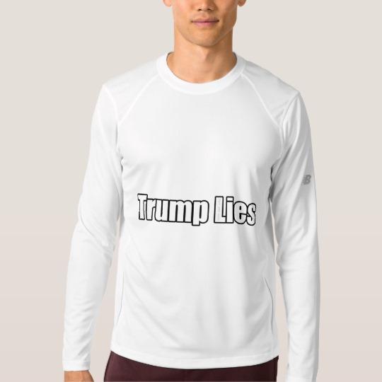 Trump Lies Men's New Balance Long Sleeve T-Shirt