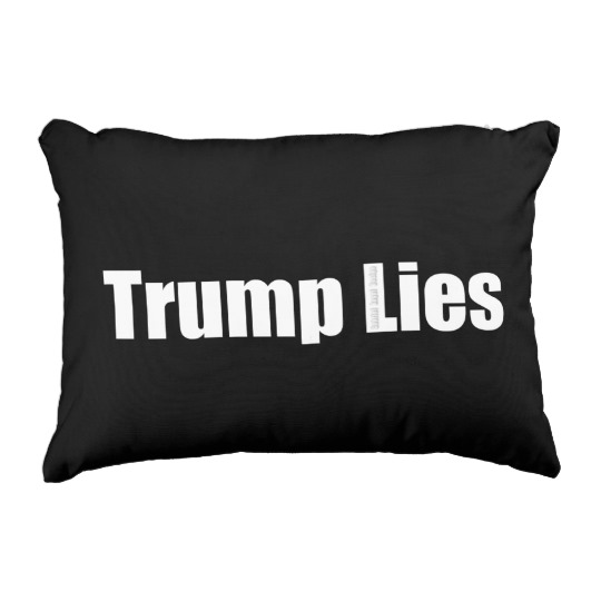 Trump Lies Polyester Accent Pillow