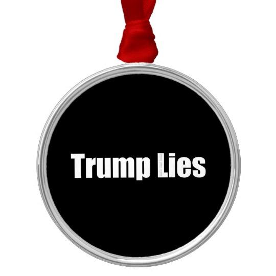 Trump Lies Premium Round Ornament