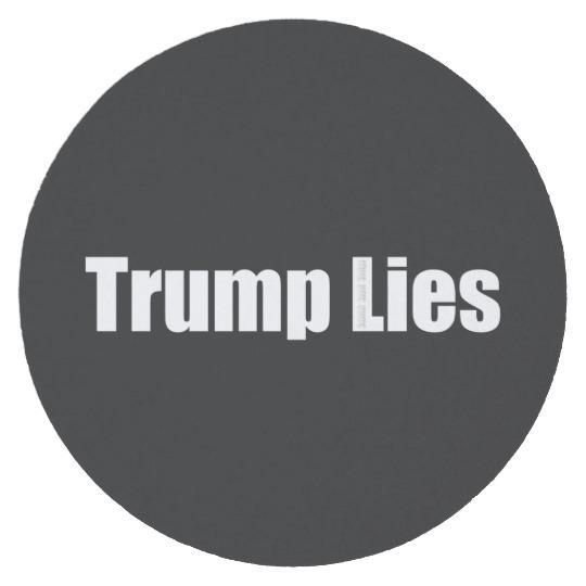 Trump Lies Round Paper Coaster