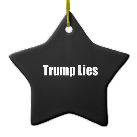 Trump Lies Star Ornament