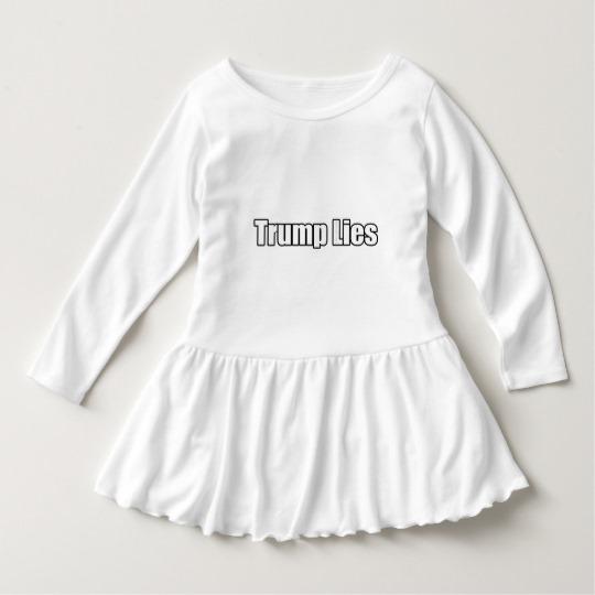 Trump Lies Toddler Ruffle Dress