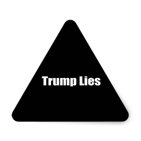 Trump Lies Triangle Stickers