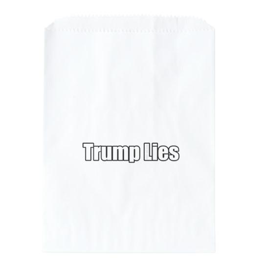 Trump Lies White Favor Bags