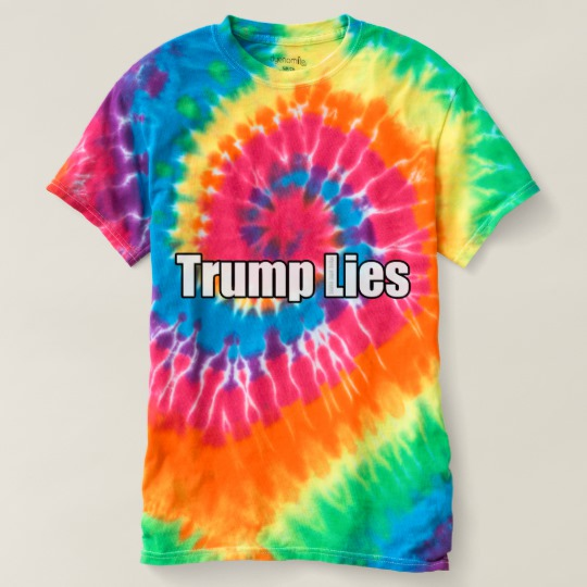 Trump Lies Women's Spiral Tie-Dye T-Shirt