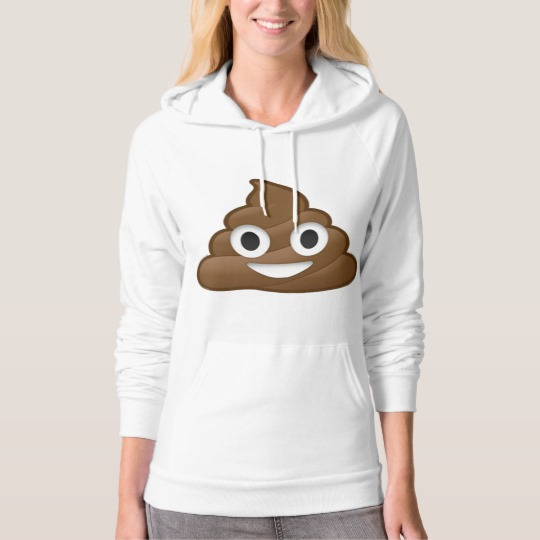 Smiling Poop Emoji American Apparel California Fleece Pullover Hoodie