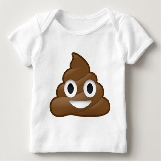 Smiling Poop Emoji Baby American Apparel Lap T-Shirt
