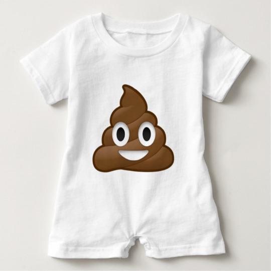 Smiling Poop Emoji Baby Romper