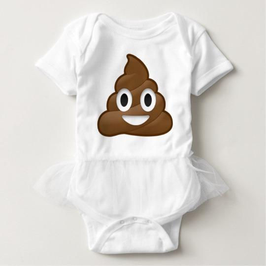 Smiling Poop Emoji Baby Tutu Bodysuit