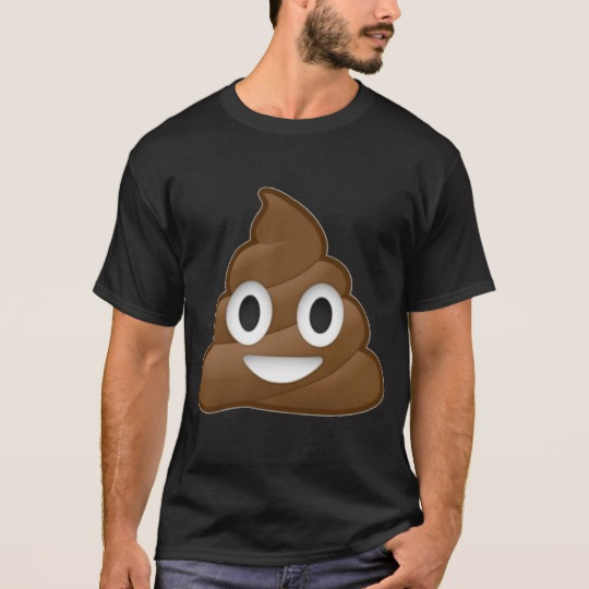 Smiling Poop Emoji Basic Dark T-Shirt