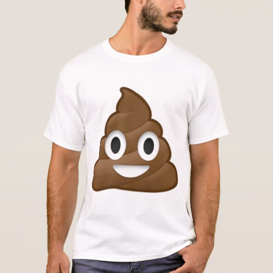 Smiling Poop Emoji Basic T-Shirt