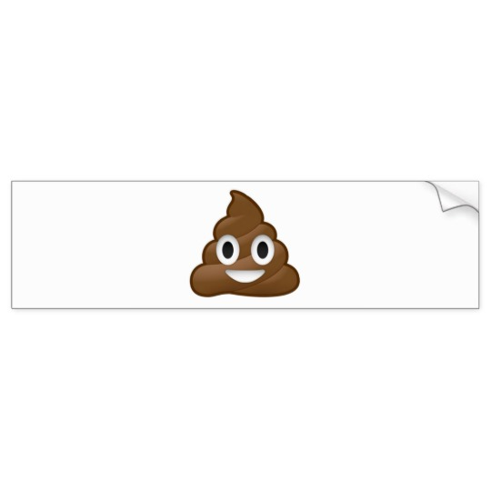 Smiling Poop Emoji Bumper Sticker