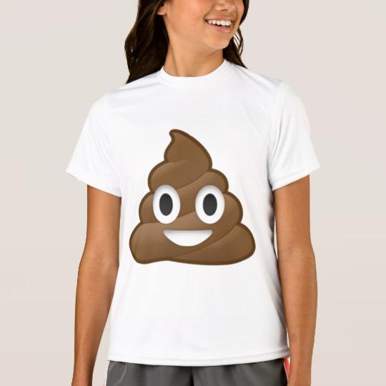 Smiling Poop Emoji Girls' Sport-Tek Competitor T-Shirt