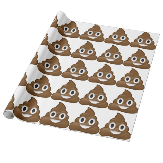 Smiling Poop Emoji Glossy Wrapping Paper