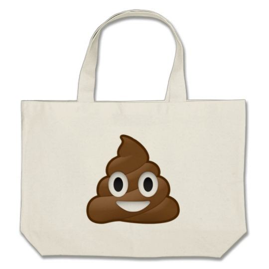 Smiling Poop Emoji Jumbo Tote