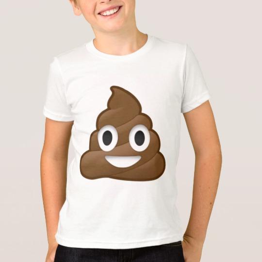 Smiling Poop Emoji Kids' American Apparel Fine Jersey T-Shirt