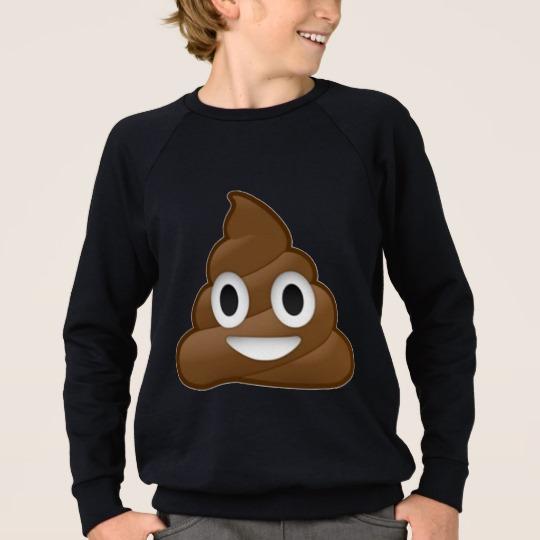 Smiling Poop Emoji Kids' American Apparel Raglan Sweatshirt