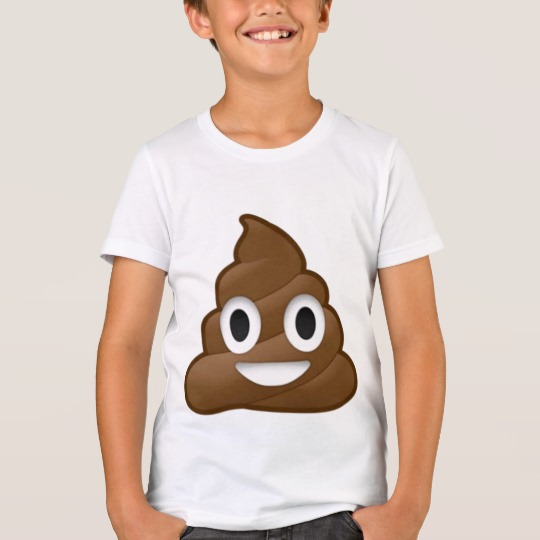 Smiling Poop Emoji Kids' Bella+Canvas Crew T-Shirt