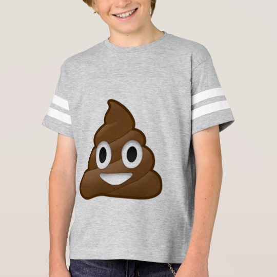 Smiling Poop Emoji Kids' Football Shirt