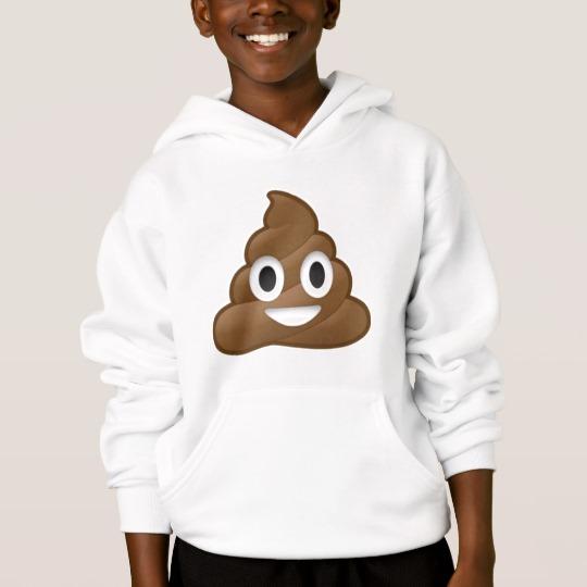 Smiling Poop Emoji Kids' Hanes ComfortBlend® Hoodie