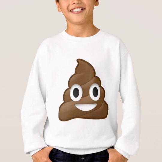 Smiling Poop Emoji Kids' Hanes ComfortBlend® Sweatshirt