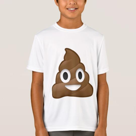 Smiling Poop Emoji Kids' Sport-Tek Competitor T-Shirt