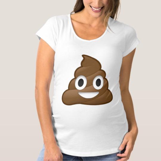 Smiling Poop Emoji Maternity T-Shirt
