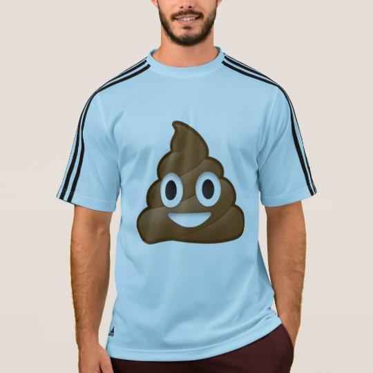 Smiling Poop Emoji Men's Adidas ClimaLite® T-Shirt
