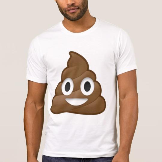 Smiling Poop Emoji Men's Alternative Apparel Crew Neck T-Shirt