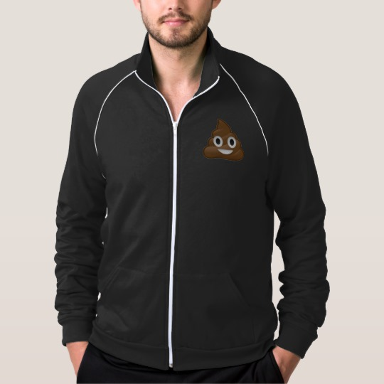Smiling Poop Emoji Men's American Apparel California Fleece Track Jacket