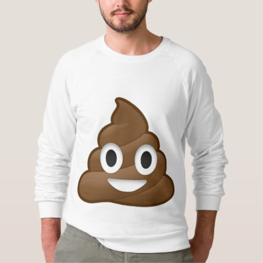 Smiling Poop Emoji Men's American Apparel Raglan Sweatshirt