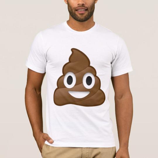 Smiling Poop Emoji Men's Basic American Apparel T-Shirt
