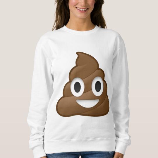 Smiling Poop Emoji Men's Basic Sweatshirt