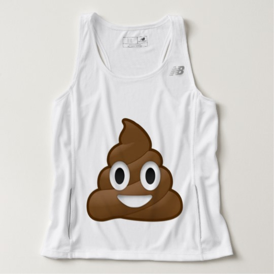 Smiling Poop Emoji Men's New Balance Tempo Running Tank Top