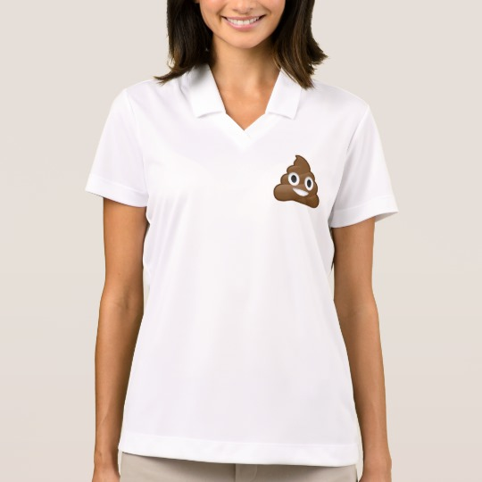 Smiling Poop Emoji Men's Nike Dri-FIT Pique Polo Shirt