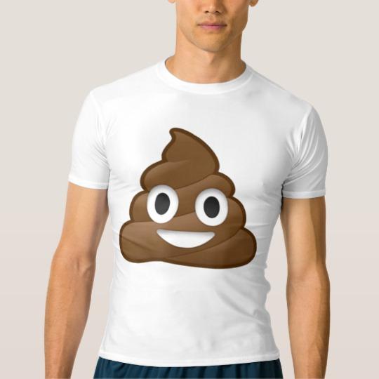 Smiling Poop Emoji Men's Performance Compression T-Shirt