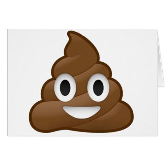 """Smiling Poop Emoji Standard 5"""" x 7"""" Card"""