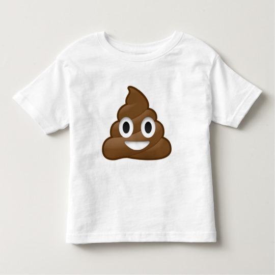Smiling Poop Emoji Toddler Fine Jersey T-Shirt