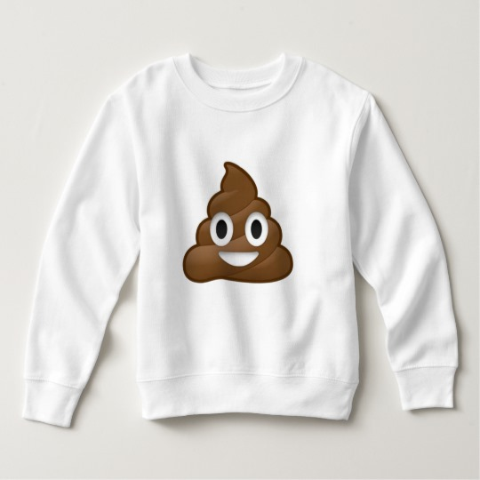 Smiling Poop Emoji Toddler Fleece Sweatshirt