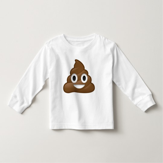 Smiling Poop Emoji Toddler Long Sleeve T-Shirt