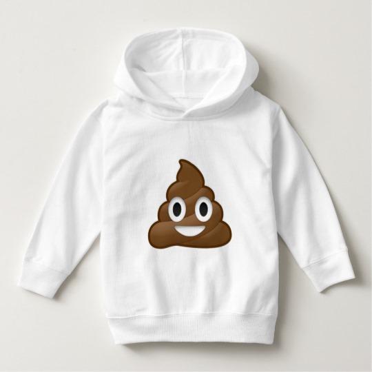 Smiling Poop Emoji Toddler Pullover Hoodie