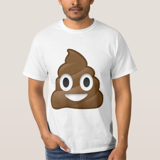 Smiling Poop Emoji Value T-Shirt