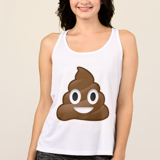 Smiling Poop Emoji Women's All Sport Performance Tank Top