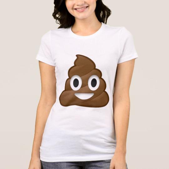 Smiling Poop Emoji Women's Bella+Canvas Favorite Jersey T-Shirt