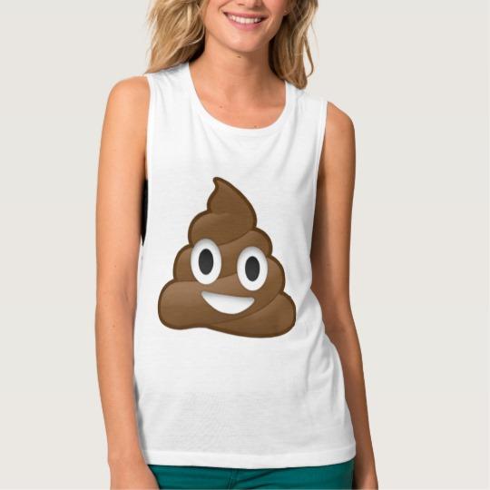 Smiling Poop Emoji Women's Bella+Canvas Flowy Muscle Tank Top