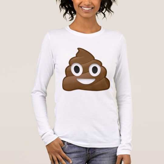 Smiling Poop Emoji Women's Bella+Canvas Long Sleeve T-Shirt