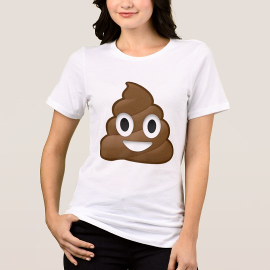 Smiling Poop Emoji Women's Bella+Canvas Relaxed Fit Jersey T-Shirt