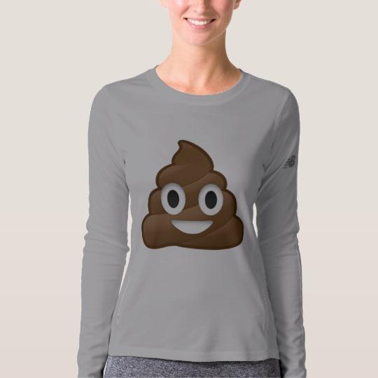 Smiling Poop Emoji Women's New Balance Long Sleeve T-Shirt