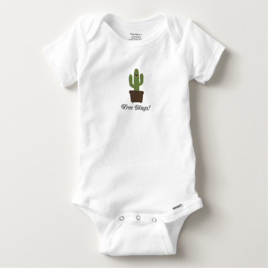 Cactus Offering Free Hugs Baby Gerber Cotton Onesie