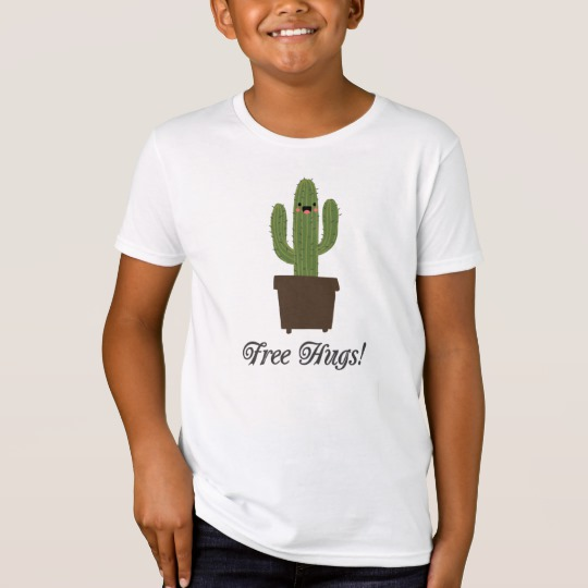 Cactus Offering Free Hugs Kids' American Apparel Organic T-Shirt